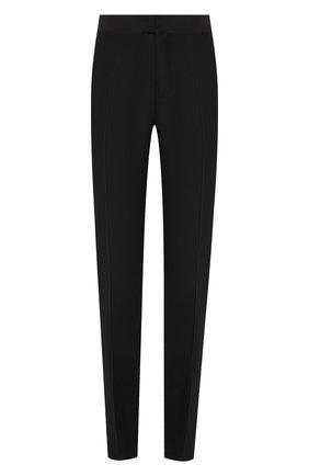 Женские брюки из смеси шерсти и шелка DSQUARED2 черного цвета, арт. S75KA0996/S42996 | Фото 1