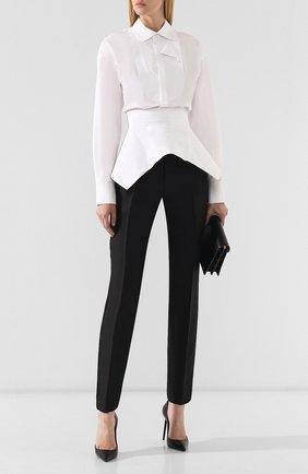 Женские брюки из смеси шерсти и шелка DSQUARED2 черного цвета, арт. S75KA0996/S42996 | Фото 2