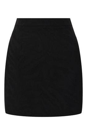 Женская шерстяная юбка SAINT LAURENT черного цвета, арт. 580279/Y516U | Фото 1