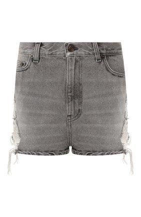 Женские джинсовые шорты SAINT LAURENT серого цвета, арт. 578954/YA772 | Фото 1
