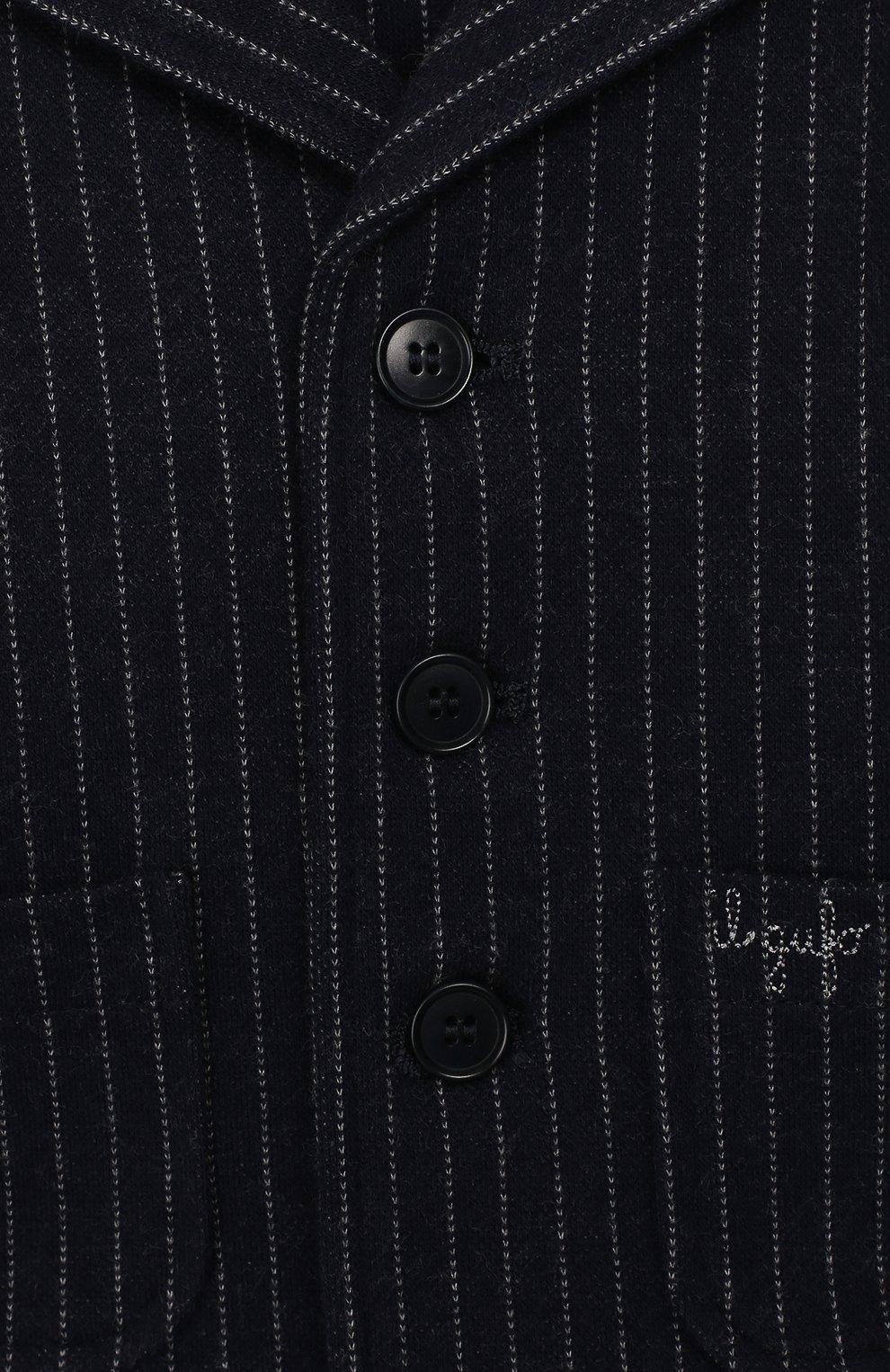 Детский хлопковый пиджак IL GUFO темно-синего цвета, арт. A19BF033M1075/12М-18М   Фото 3