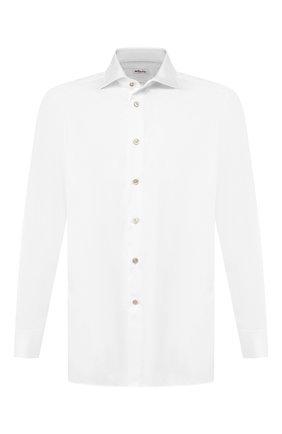 Мужская хлопковая сорочка KITON белого цвета, арт. UCID/H003707 | Фото 1