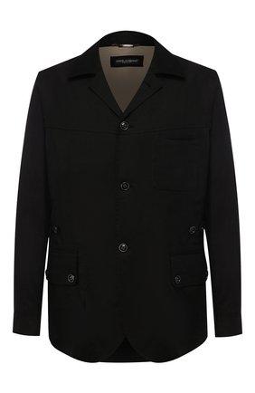 Мужская льняная куртка DOLCE & GABBANA черного цвета, арт. G2ND7T/FU4IX | Фото 1