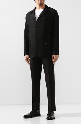 Мужская льняная куртка DOLCE & GABBANA черного цвета, арт. G2ND7T/FU4IX | Фото 2
