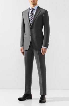 Мужской шерстяной костюм ERMENEGILDO ZEGNA серого цвета, арт. 622053/221225 | Фото 1