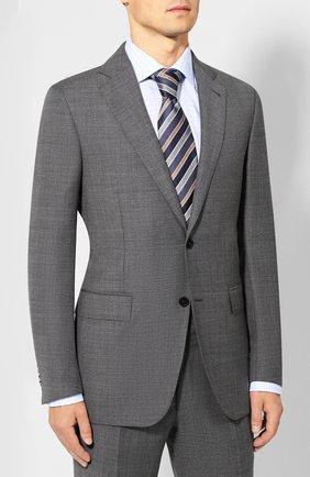 Мужской шерстяной костюм ERMENEGILDO ZEGNA серого цвета, арт. 622053/221225 | Фото 2