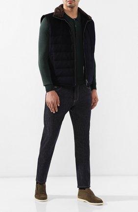 Мужские джинсы BRUNELLO CUCINELLI темно-синего цвета, арт. ML476X1290 | Фото 2