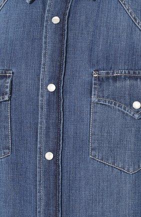 Мужская джинсовая рубашка BRUNELLO CUCINELLI синего цвета, арт. ME6454078 | Фото 5