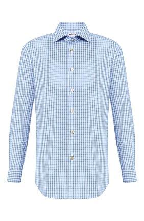 Мужская хлопковая сорочка KITON голубого цвета, арт. UCIH0656208 | Фото 1