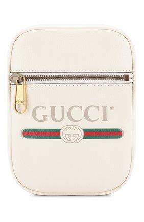 Кожаная сумка Gucci Print   Фото №1