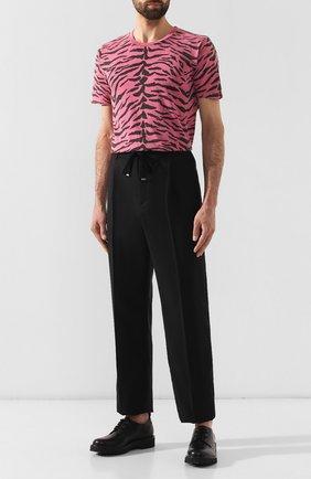 Мужская хлопковая футболка SAINT LAURENT розового цвета, арт. 577096/YBIH2 | Фото 2