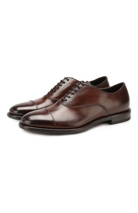 Мужские кожаные оксфорды H`D`S`N BARACCO коричневого цвета, арт. 59306.3* | Фото 1
