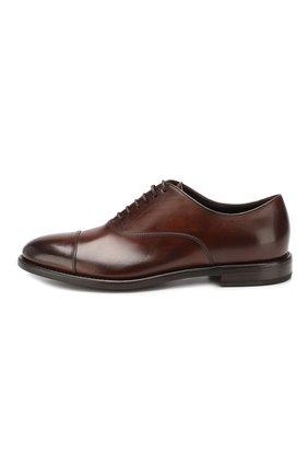 Мужские кожаные оксфорды H`D`S`N BARACCO коричневого цвета, арт. 59306.3* | Фото 3