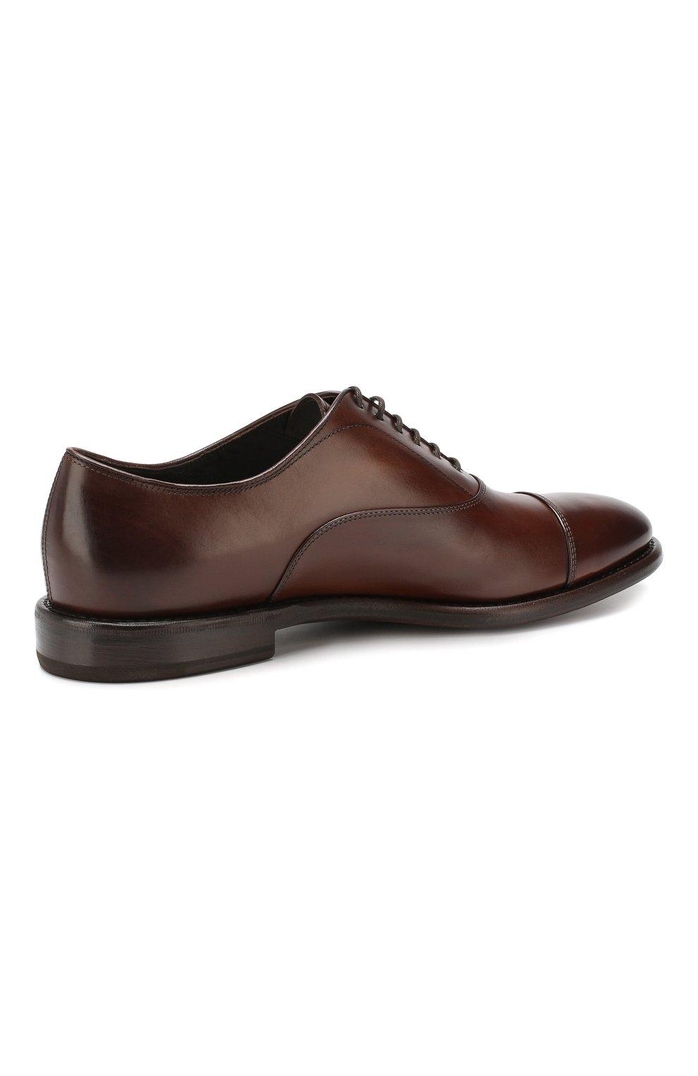Мужские кожаные оксфорды H`D`S`N BARACCO коричневого цвета, арт. 59306.3* | Фото 4