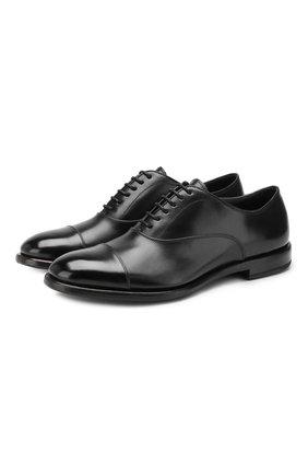Мужские кожаные оксфорды H`D`S`N BARACCO черного цвета, арт. 59306.0* | Фото 1