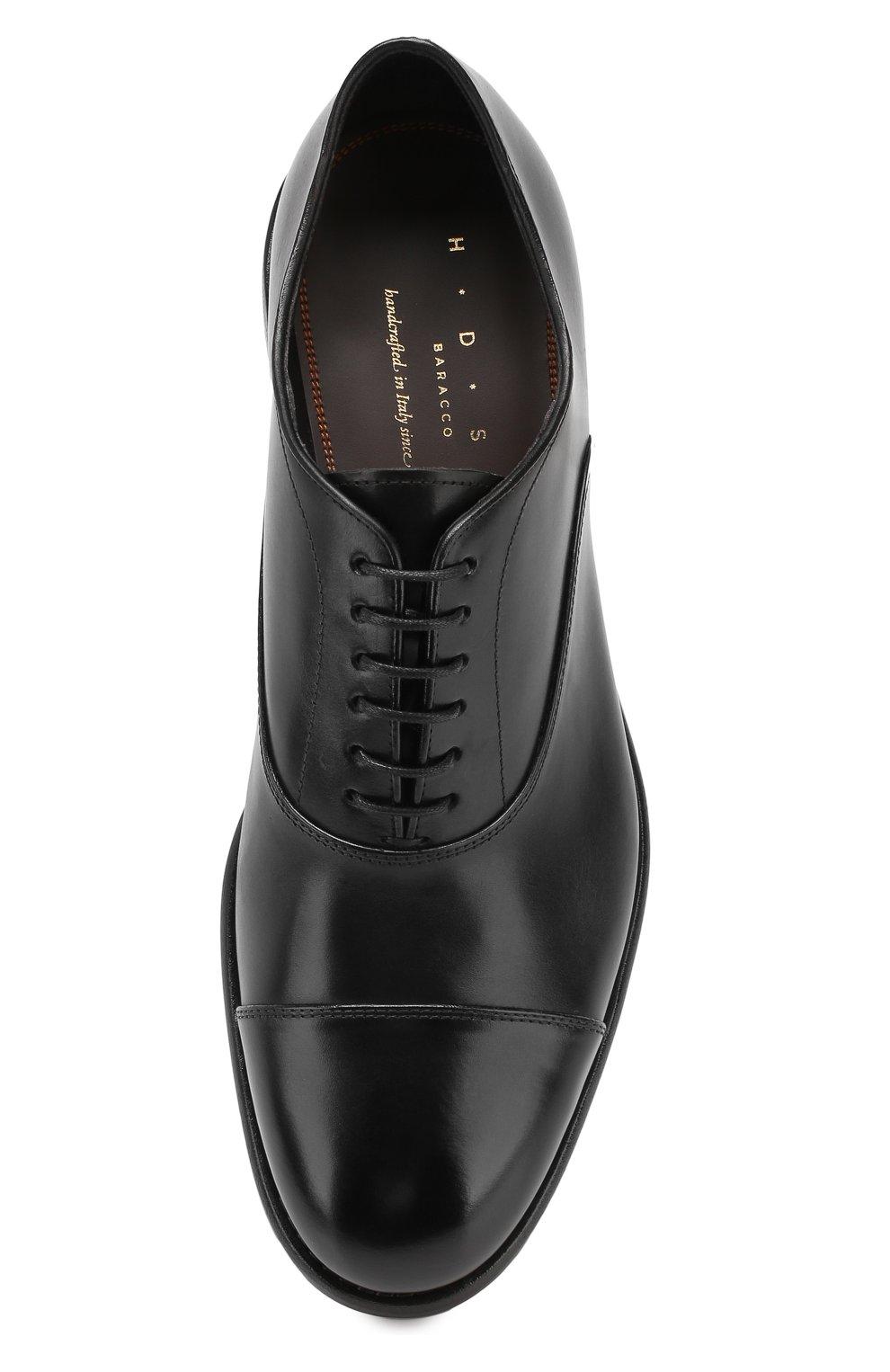 Мужские кожаные оксфорды H`D`S`N BARACCO черного цвета, арт. 59306.0* | Фото 5