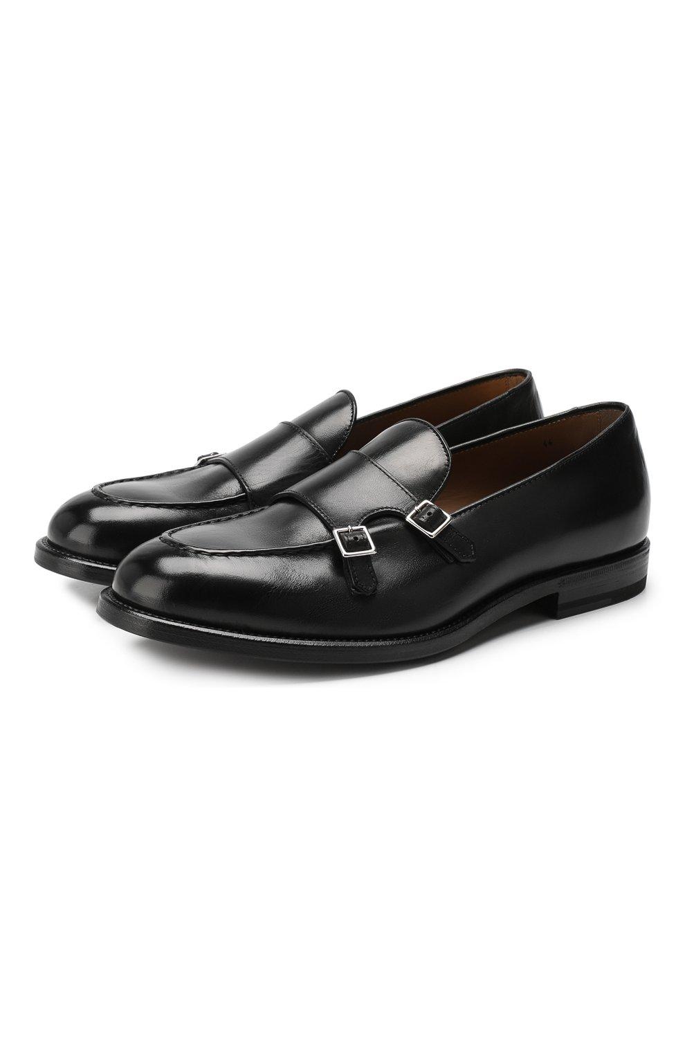 Мужские кожаные монки H`D`S`N BARACCO черного цвета, арт. 58404.7*   Фото 1