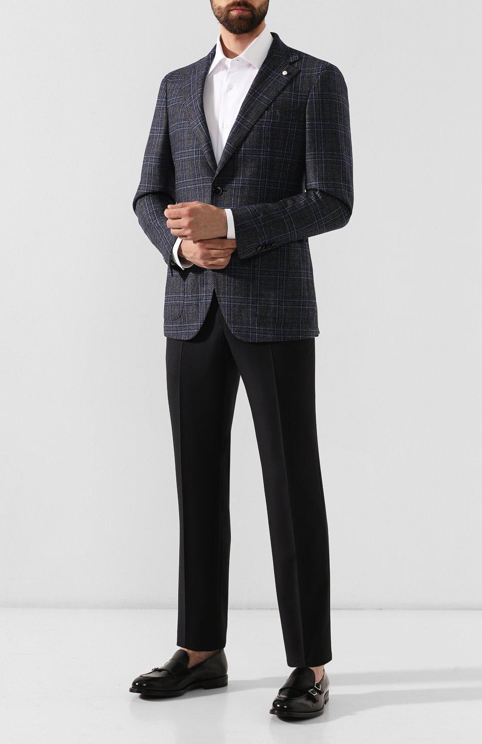 Мужские кожаные монки H`D`S`N BARACCO черного цвета, арт. 58404.7*   Фото 2