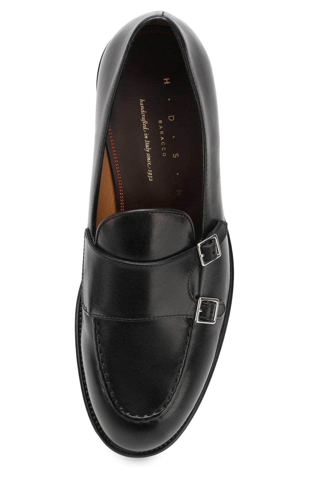 Мужские кожаные монки H`D`S`N BARACCO черного цвета, арт. 58404.7*   Фото 5