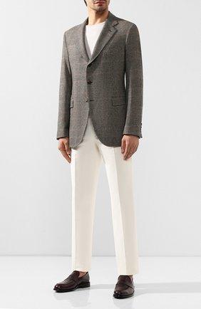 Мужской кашемировый пиджак LORO PIANA светло-коричневого цвета, арт. FAI7710 | Фото 2