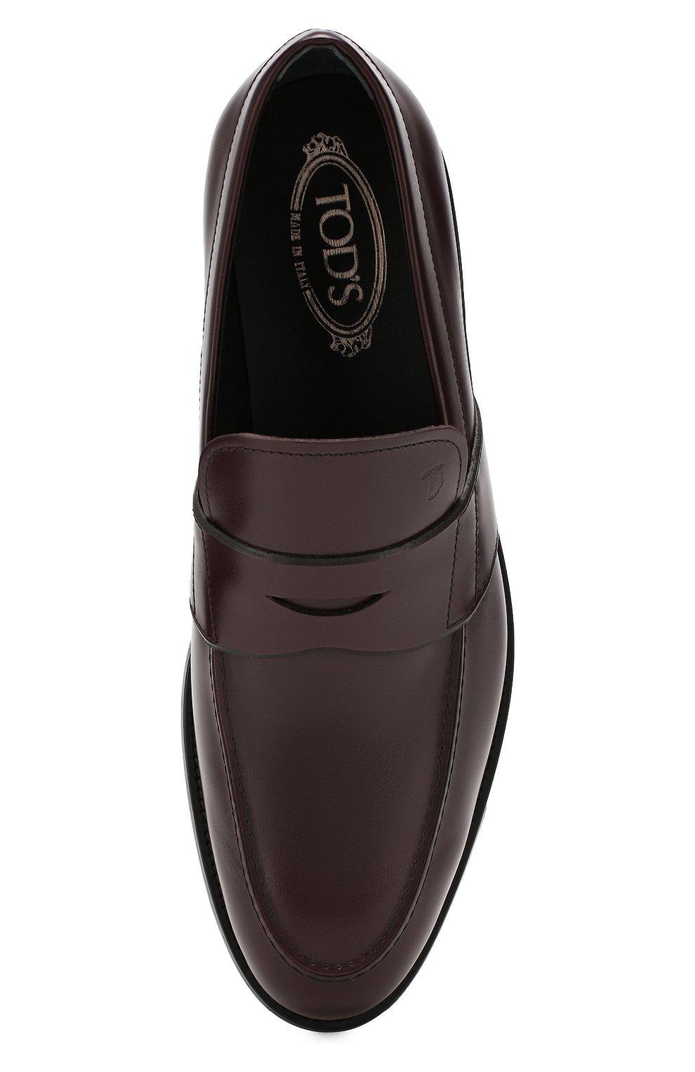 Мужские кожаные пенни-лоферы TOD'S бордового цвета, арт. XXM0XR00590LYG | Фото 5