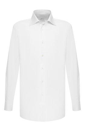 Мужская хлопковая сорочка BRIONI белого цвета, арт. RCLU1G/07076 | Фото 1