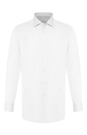 Мужская хлопковая сорочка BRIONI белого цвета, арт. RCL8DL/PZ003 | Фото 1