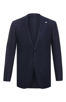 Мужской шерстяной пиджак L.B.M. 1911 темно-синего цвета, арт. 2403/92138 | Фото 1