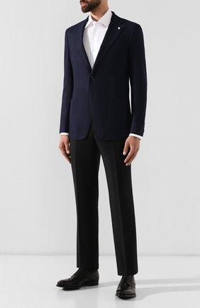 Мужской шерстяной пиджак L.B.M. 1911 темно-синего цвета, арт. 2403/92138 | Фото 2