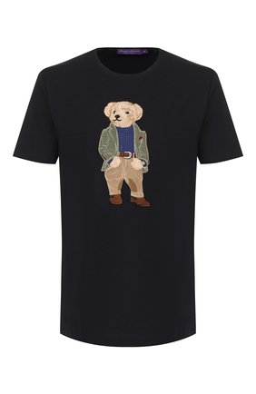 Мужская хлопковая футболка RALPH LAUREN темно-синего цвета, арт. 790750588 | Фото 1