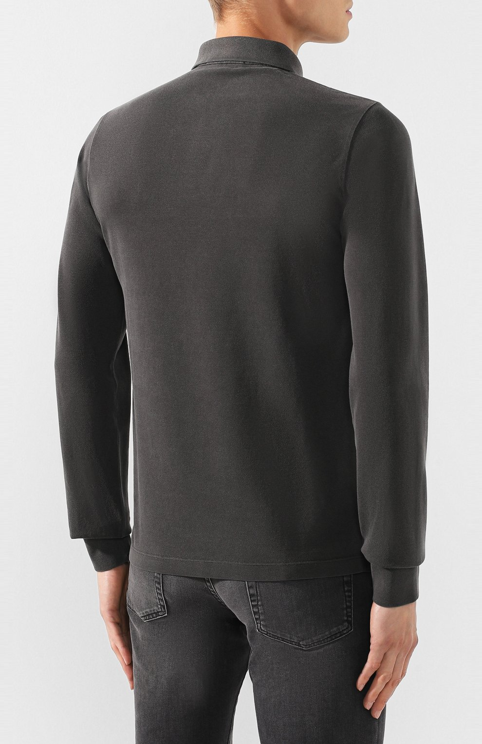 Мужское хлопковое поло STONE ISLAND темно-серого цвета, арт. 71152SS67 | Фото 4