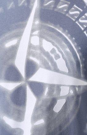 Мужская хлопковая футболка STONE ISLAND синего цвета, арт. 711523383   Фото 5
