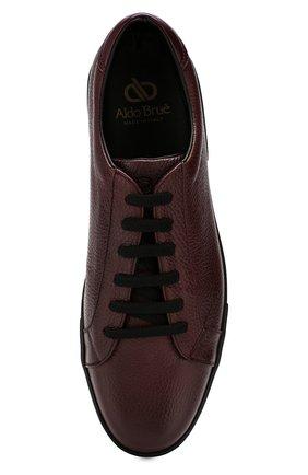 Мужские кожаные кеды ALDO BRUE бордового цвета, арт. AB5035H-VPN | Фото 5