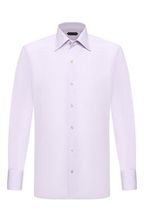 Мужская хлопковая сорочка TOM FORD сиреневого цвета, арт. 6FT011/94S1JE | Фото 1