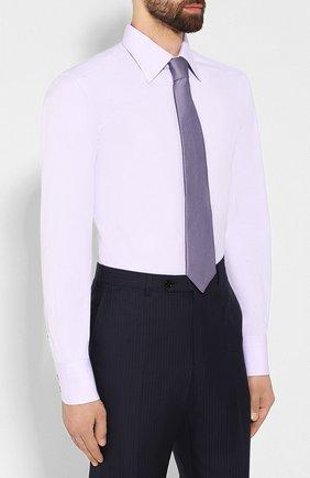 Мужская хлопковая сорочка TOM FORD сиреневого цвета, арт. 6FT011/94S1JE | Фото 4