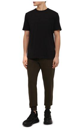 Мужские джоггеры POLO RALPH LAUREN хаки цвета, арт. 710652314 | Фото 2 (Длина (брюки, джинсы): Стандартные; Материал внешний: Хлопок, Синтетический материал; Силуэт М (брюки): Джоггеры; Мужское Кросс-КТ: Брюки-трикотаж; Кросс-КТ: Спорт)