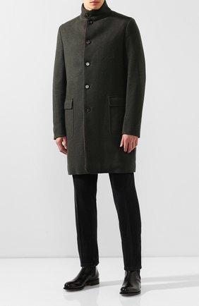 Кашемировое пальто с меховой подкладкой | Фото №2