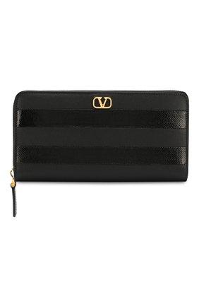 Женские кожаный кошелек valentino garavani VALENTINO черного цвета, арт. SW2P0645/SAW | Фото 1