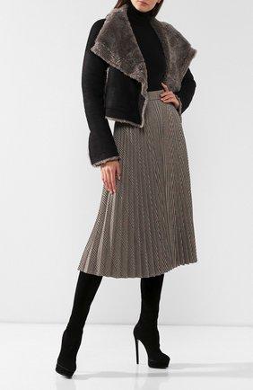 Женские замшевые ботфорты flora CASADEI черного цвета, арт. 1T831E1401T00059000 | Фото 2