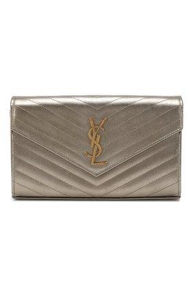 Женская сумка monogram classic SAINT LAURENT серебряного цвета, арт. 377828/03X27 | Фото 1