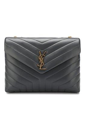 Женская сумка monogram loulou medium SAINT LAURENT серого цвета, арт. 574946/DV727   Фото 1