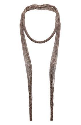 Женское колье BRUNELLO CUCINELLI коричневого цвета, арт. MC0W9G601P | Фото 2