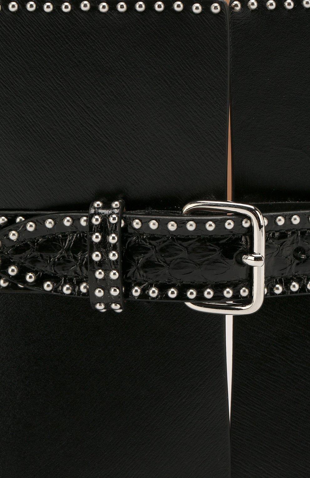 Женский кожаный пояс ALAIA черного цвета, арт. 9W1E082RCJ71 | Фото 3