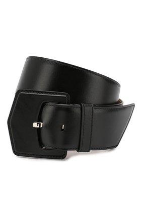 Женский кожаный ремень ALAIA черного цвета, арт. 9W1E228RCY75   Фото 1