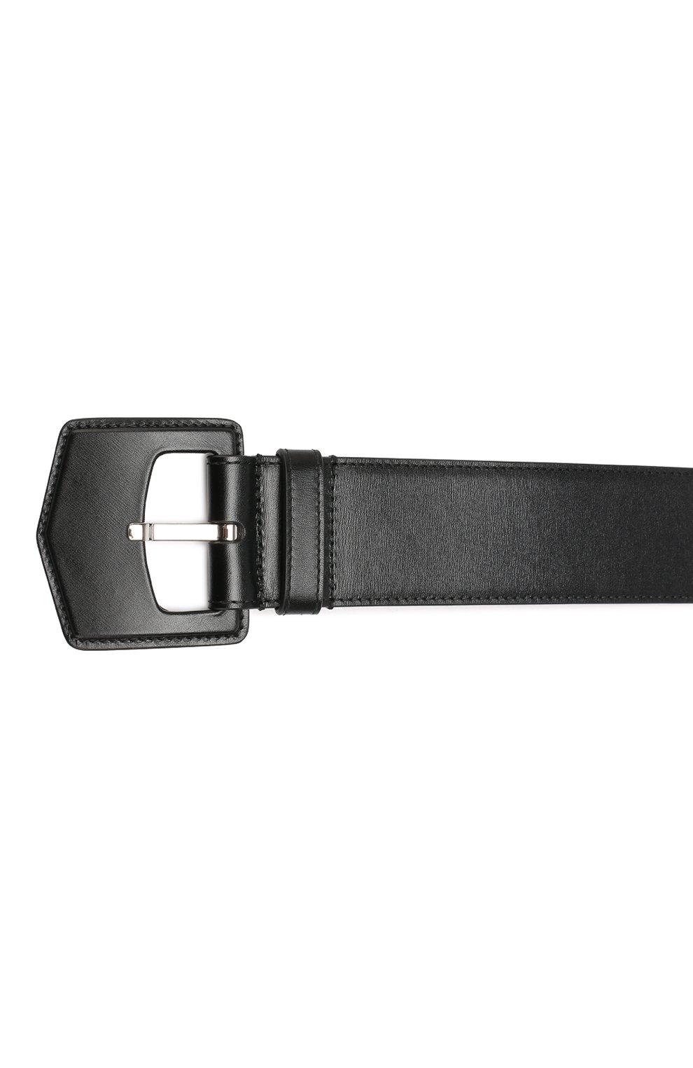 Женский кожаный ремень ALAIA черного цвета, арт. 9W1E228RCY75   Фото 3