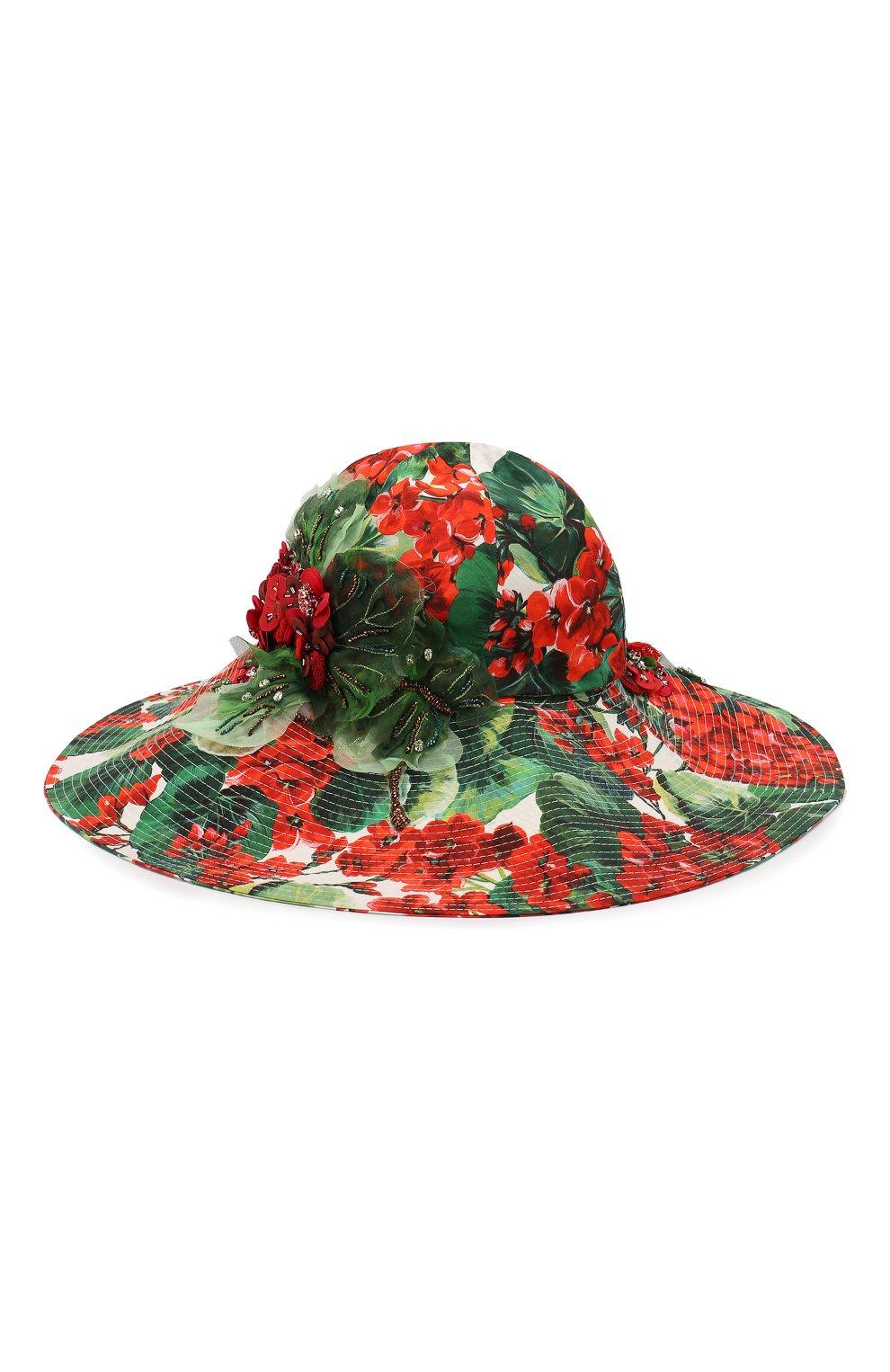 Женская хлопковая шляпа DOLCE & GABBANA разноцветного цвета, арт. FH427Z/HS5CL | Фото 1