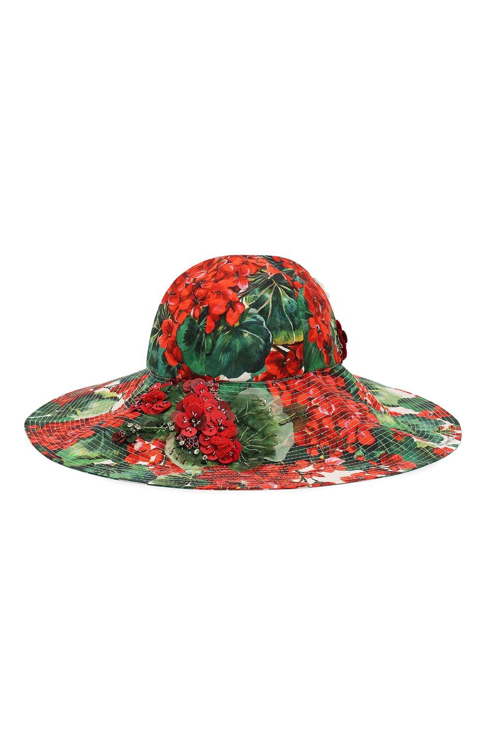 Женская хлопковая шляпа DOLCE & GABBANA разноцветного цвета, арт. FH427Z/HS5CL | Фото 2