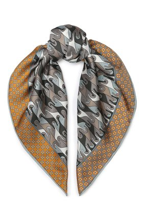 Женский шелковый платок regina delle ande LORO PIANA серого цвета, арт. FAI7370 | Фото 1
