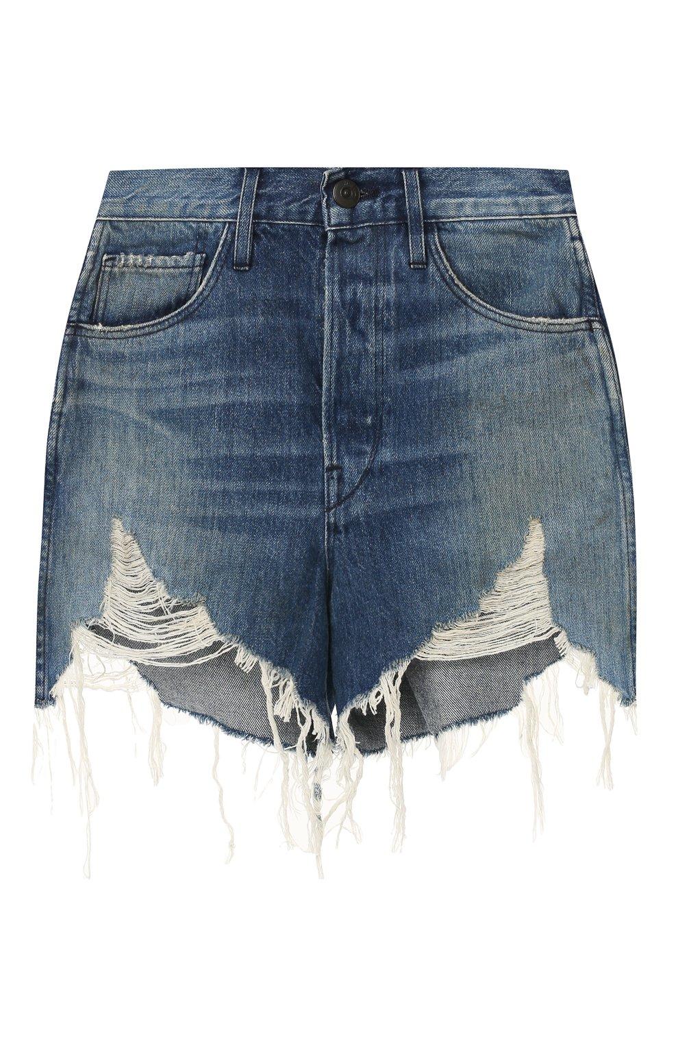 Женские джинсовые шорты 3X1 голубого цвета, арт. WSX4S0866/FIN0LA   Фото 1