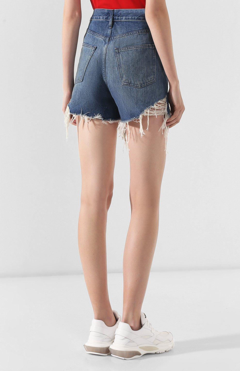 Женские джинсовые шорты 3X1 голубого цвета, арт. WSX4S0866/FIN0LA   Фото 4